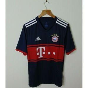 Adidas XL FC Bayern Munich Jersey Shirt Blue Red